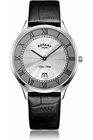 Rotary Mens Analogue Classic Quartz Watch with Leather Strap GS08300/21