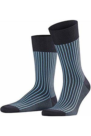 Falke Men's Oxford Stripe Socks, (Dark Navy & Sky 6375)
