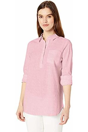 Daily Ritual Broken-in Cotton Relaxed Popover Shirt Button