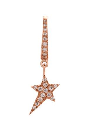 Diane Kordas Star-charm 18kt Rose- Single Earring - Womens