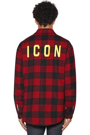 Dsquared2 Men Casual - Icon Print Check Wool Flannel Shirt