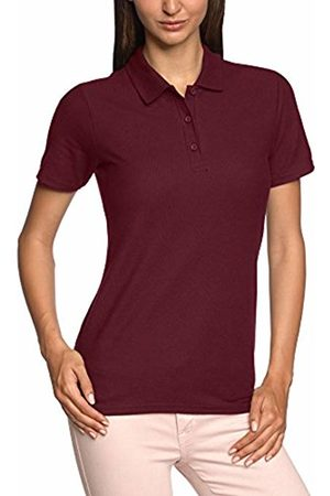 Anvil Women Polo Shirts - Ladies Double Pique Polo Maroon Large
