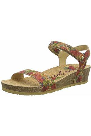 Panama Jack Women's Capri Cork Ankle Strap Sandals (Rojo B1) 5 UK