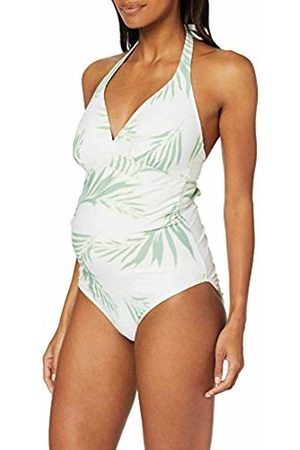 Mama Licious Women's Mlbow Printed Palm Swimsuit Maternity