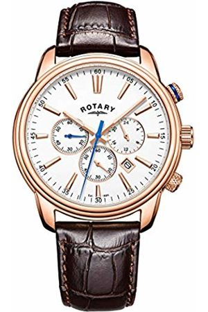 Rotary Mens Chronograph Quartz Watch with Leather Strap GS05084/06