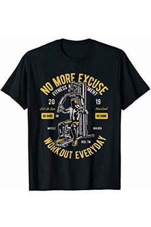 Fitness Workout Gym Shirts JG Workout Every Day - Gym Motivation T-Shirt