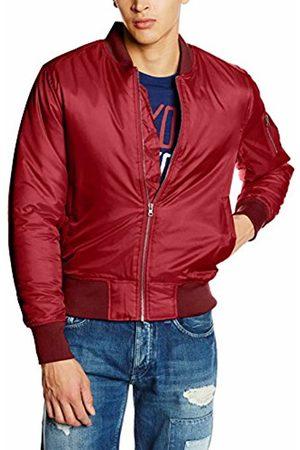 Urban classics Men's Basic Bomber Jacket (Burgundy 606)