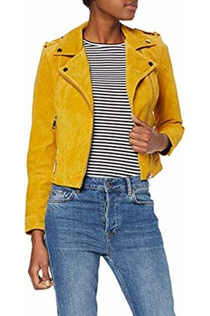 Vero Moda NOS Women's Vmroyce Short Suede Jacket Noos, Golden Nugget