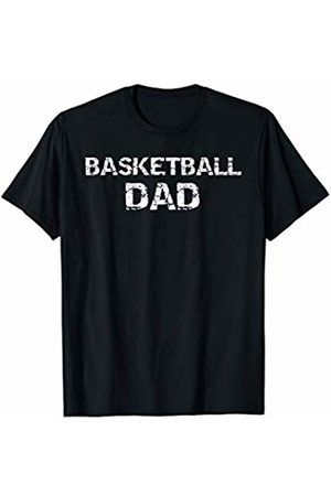 Father's Day Gift Design Studio Sports Father's Day Gift for Men Distressed Basketball Dad T-Shirt