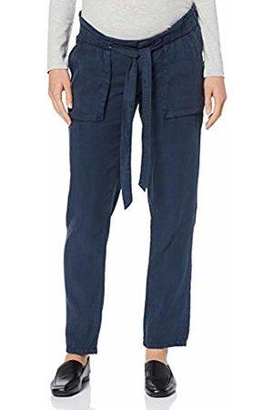 Mama Licious Women's Mlbethune Woven Pant A. Maternity Trousers, Navy Blazer