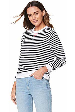 Tommy Hilfiger Women's Kellie C-nk Sweatshirt Ls Long Sleeve Top, STP/Sky Captain 464