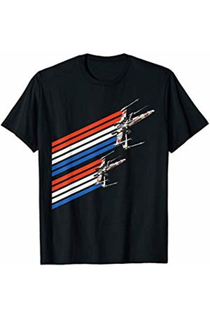 STAR WARS X-Wing Starfighters Red White Trails T-Shirt
