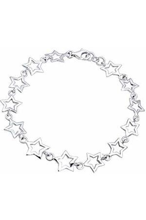 Elli Women's 925 Sterling Xilion Cut Bracelet of Length 19 cm