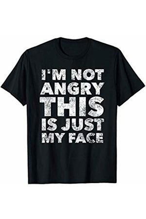 BullQuack I'm not angry this is just my face - funny sarcastic sarcasm T-Shirt