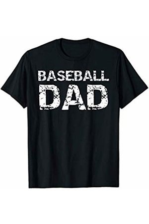 Father's Day Gift Design Studio Sports Father's Day Gift for Men Distressed Baseball Dad T-Shirt