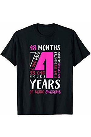 4th Birthday Boys Girls Age 4 Gifts 4th Birthday Shirt Daughter Niece Gift for 4 Year Old Girls T-Shirt