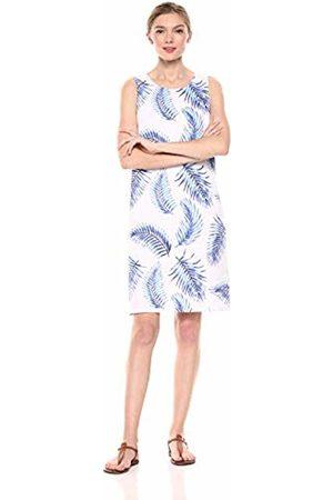 28 Palms 100% Linen Hawaiian Print Shift Dress Casual