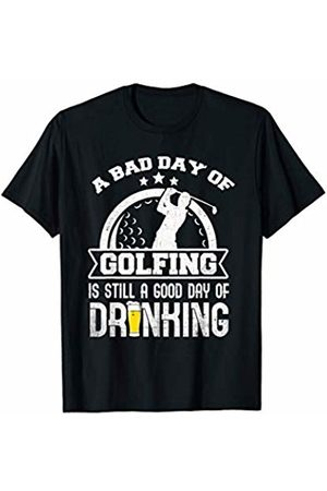 Funny Golf Shirts for Men Beer and Golfing Funny Drinking Golf T-Shirt