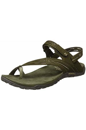 Merrell Women's Terran Convert Ii T-Bar Sandals Dusty Olive)