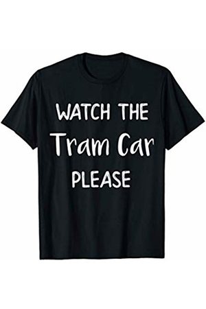 Beach Day Summer Gift Co Watch the Tram Car Please Wildwood New Jersey Beach Novelty T-Shirt