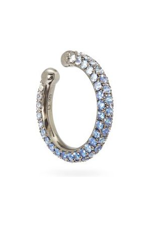 Lynn Ban Orbital Sapphire & Rhodium-plated Ear Cuff - Womens