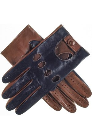 Black Gloves - Navy and Tobacco Italian Leather Driving Gloves