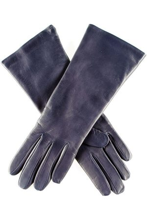 Black Gloves - Midnight Navy Leather Gloves with Cashmere Lining