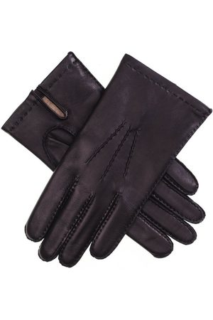 Black Men Gloves - Men's Cashmere Lined Leather Gloves