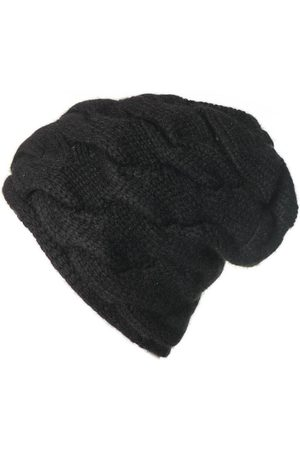Black Beanies - Cable Knit Cashmere Beanie
