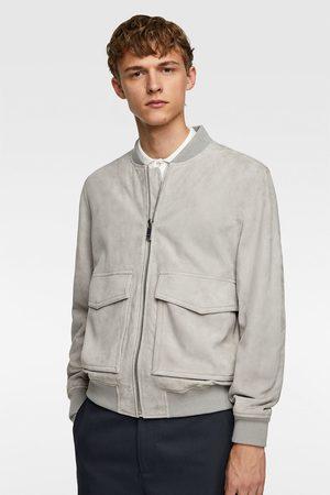 Zara Suede jacket with pockets