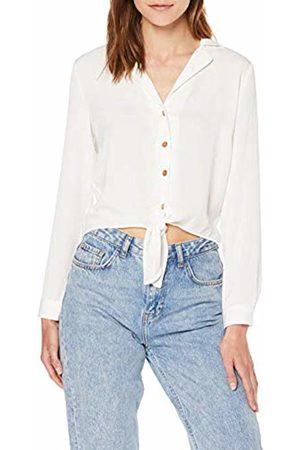 Miss Selfridge Women's Ivory Tie Front Shirt Blouse, 200