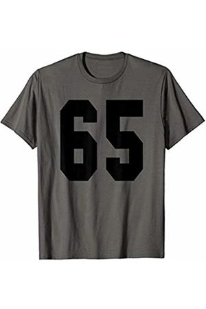Rec League Team Sports Number T-Shirts # 65 Team Sports Jersey Front & Back Number Player Fan T-Shirt