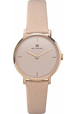 Accurist Womens Analogue Classic Quartz Watch with Brass Strap 8255