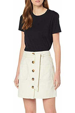 Miss Selfridge Women's Ivory Button Through Twill Skirt 200