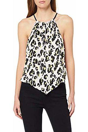 Miss Selfridge Women's Nude Leopard Print Satin Halter Top Vest, 030