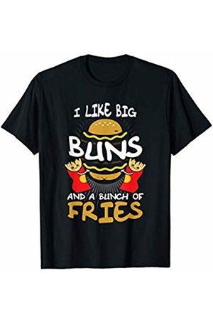 BCC Funny Hamburger & Cheeseburger Foodie Shirts I Like Big Buns And I Cannot Lie Food Lover Fries Hamburger T-Shirt