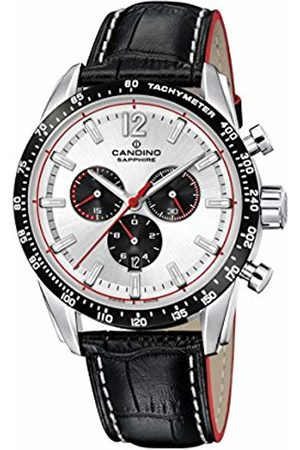 Candino Men Watches - Mens Chronograph Quartz Watch with Leather Strap C4681/1