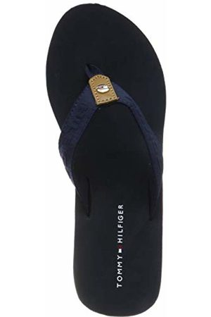 Tommy Hilfiger Women's Flag Wedge Beach Sandal Flip Flops 3.5 UK