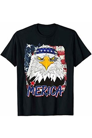 Fourth Of July Bald Eagle Art Gift and Apparel American Flag Bald Eagle Merica 4th Of July USA Bandana T-Shirt