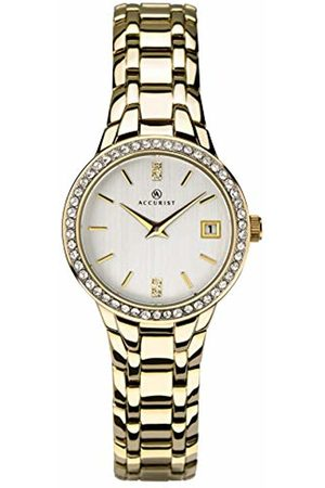 Accurist Womens Analogue Classic Quartz Watch with Brass Strap 8178
