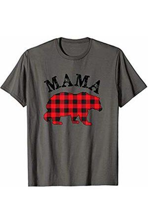Cool Mama P Matching Family Christmas Pajamas Buffalo Plaid Mama Bear Matching Couple Christmas Pajama T-Shirt