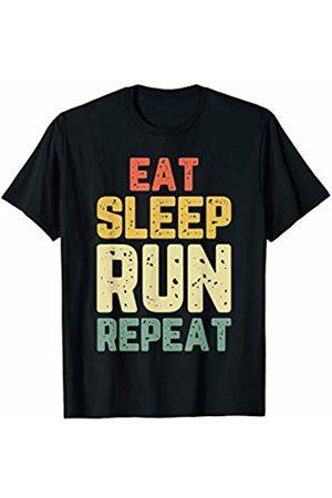 Eat Sleep Run Repeat Gift Tees Eat Sleep Run Repeat Running Vintage Gift T-Shirt
