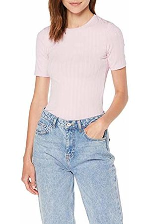 Miss Selfridge Women's Lilac Short Sleeve Ribbed T-Shirt, 020