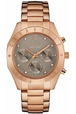 CARAVELLE Rose Boyfriend Women's Quartz Watch with Dial Chronograph Display and Rose Bracelet 44L190