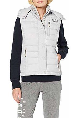 Superdry Women's Fuji Slim Double Zip Vest Outdoor Gilet, (Ice Marl Hiz)