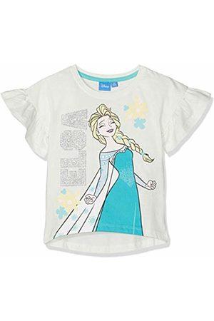 Disney La reine des neiges Girl's 5592 T-Shirt, Off- Crème