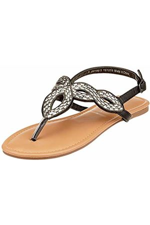 Dorothy Perkins Women's Freddy Embellished Toe Post Open Sandals, ( 010)