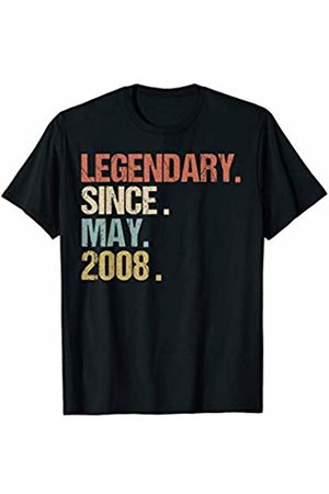 Legendary Since May Shirt Vintage Birthday Gift 11th Birthday Gift Legendary Since May 2008 Shirt Retro