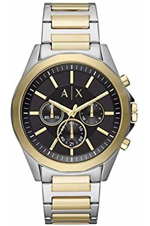 Armani Mens Chronograph Quartz Watch with Stainless Steel Strap AX2617