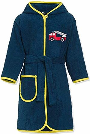 Playshoes Boy's Kinder Frottee-bademantel Feuerwehr Bathrobe